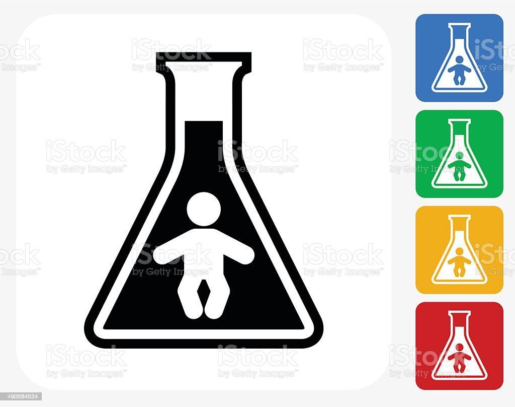 Chemical Infant Icon Flat Graphic Design vector art illustration