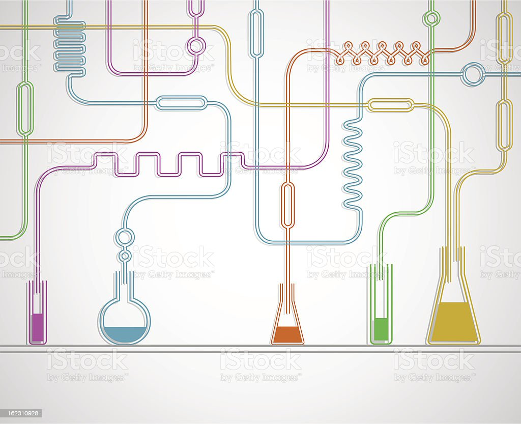 Chemical laboratory royalty-free stock vector art