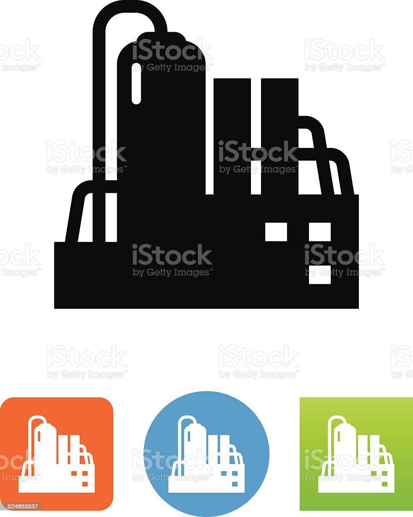 Chemical Plant Icon vector art illustration