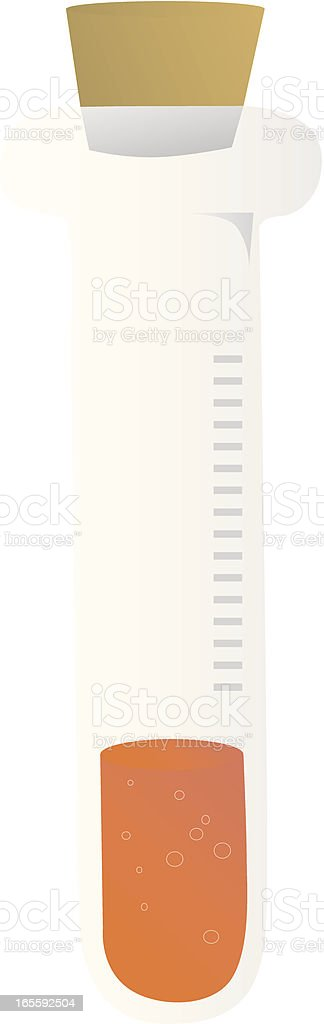Chemical sample royalty-free stock vector art