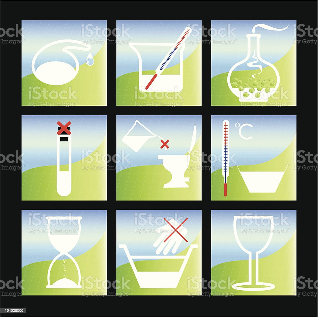 chemical warning stickers royalty-free stock vector art