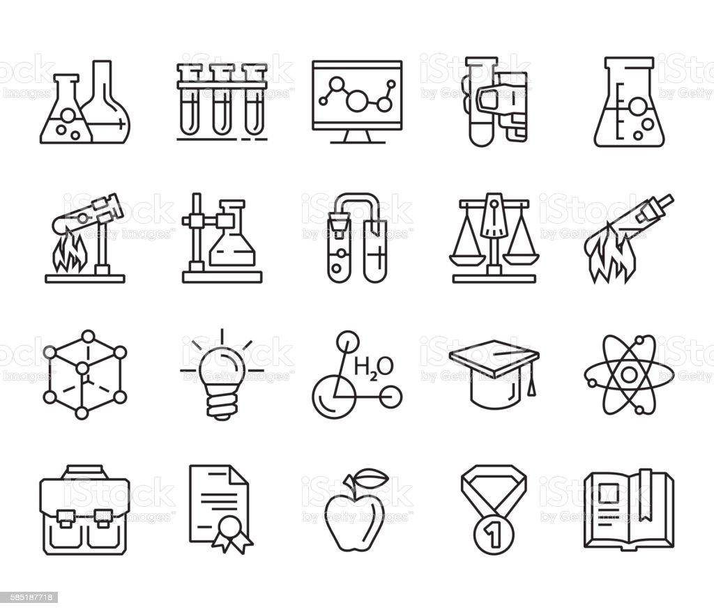 chemistry. back to school vector art illustration
