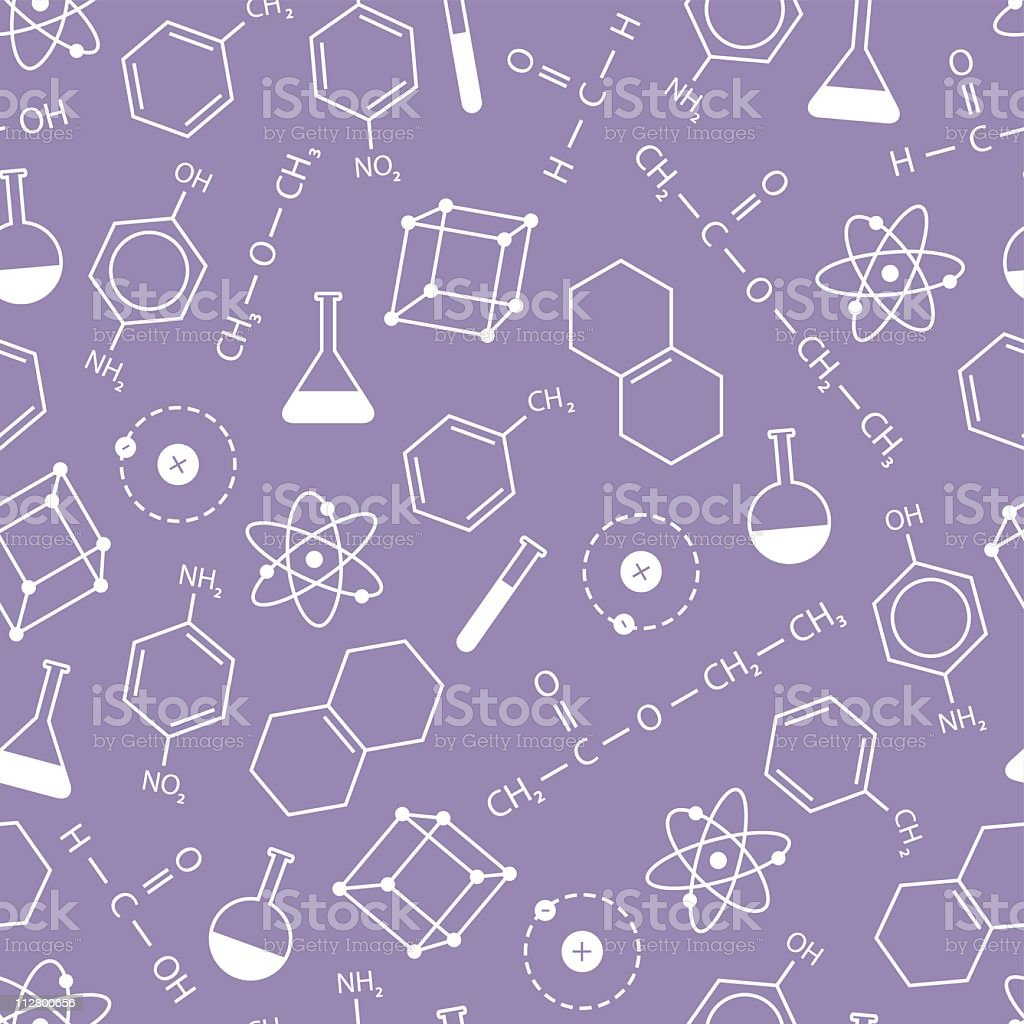 Chemistry background vector art illustration