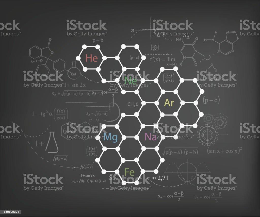 Chemistry chart vector art illustration