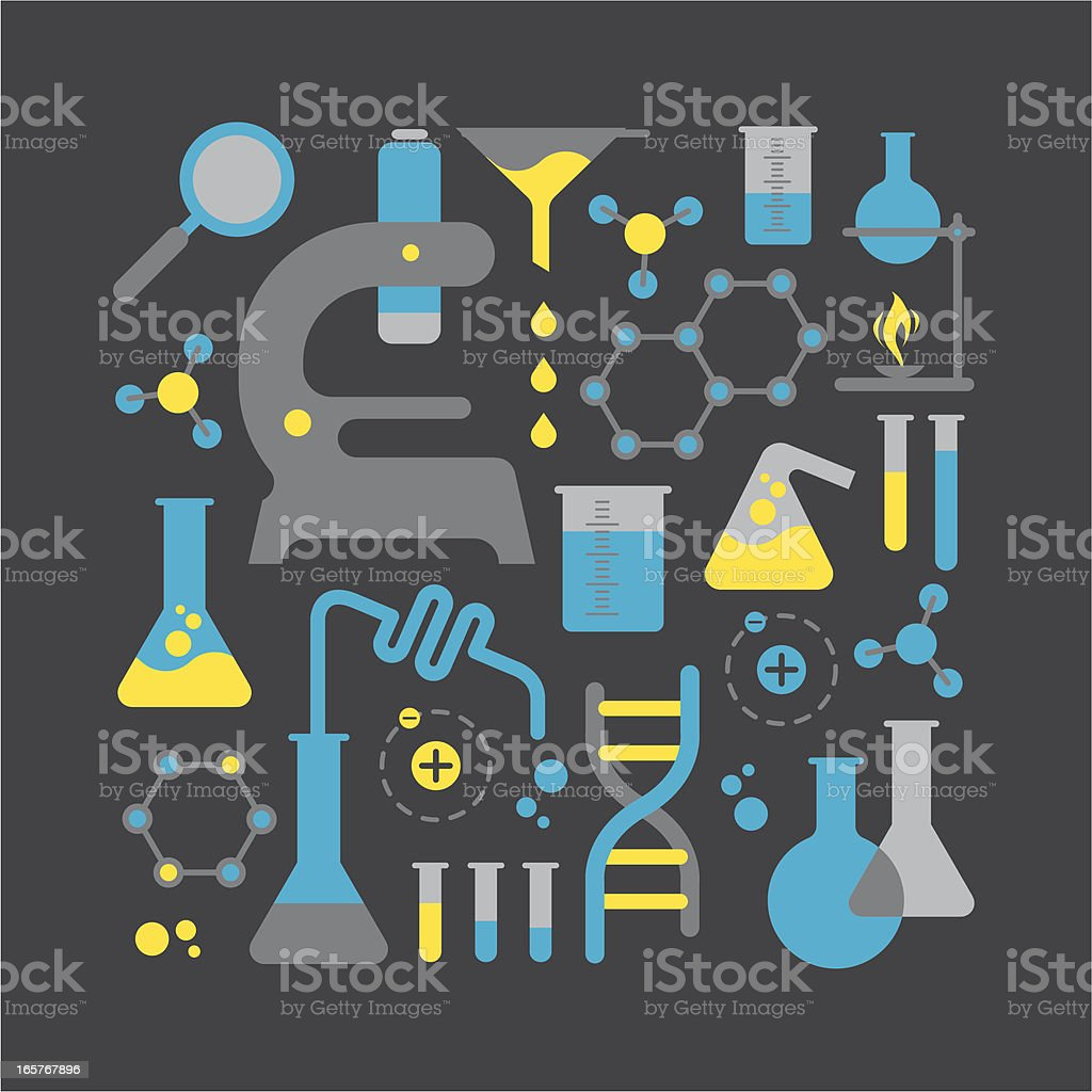 Chemistry elements royalty-free stock vector art