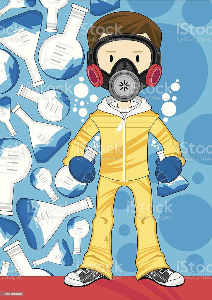 Chemistry Experiment Kid royalty-free stock vector art