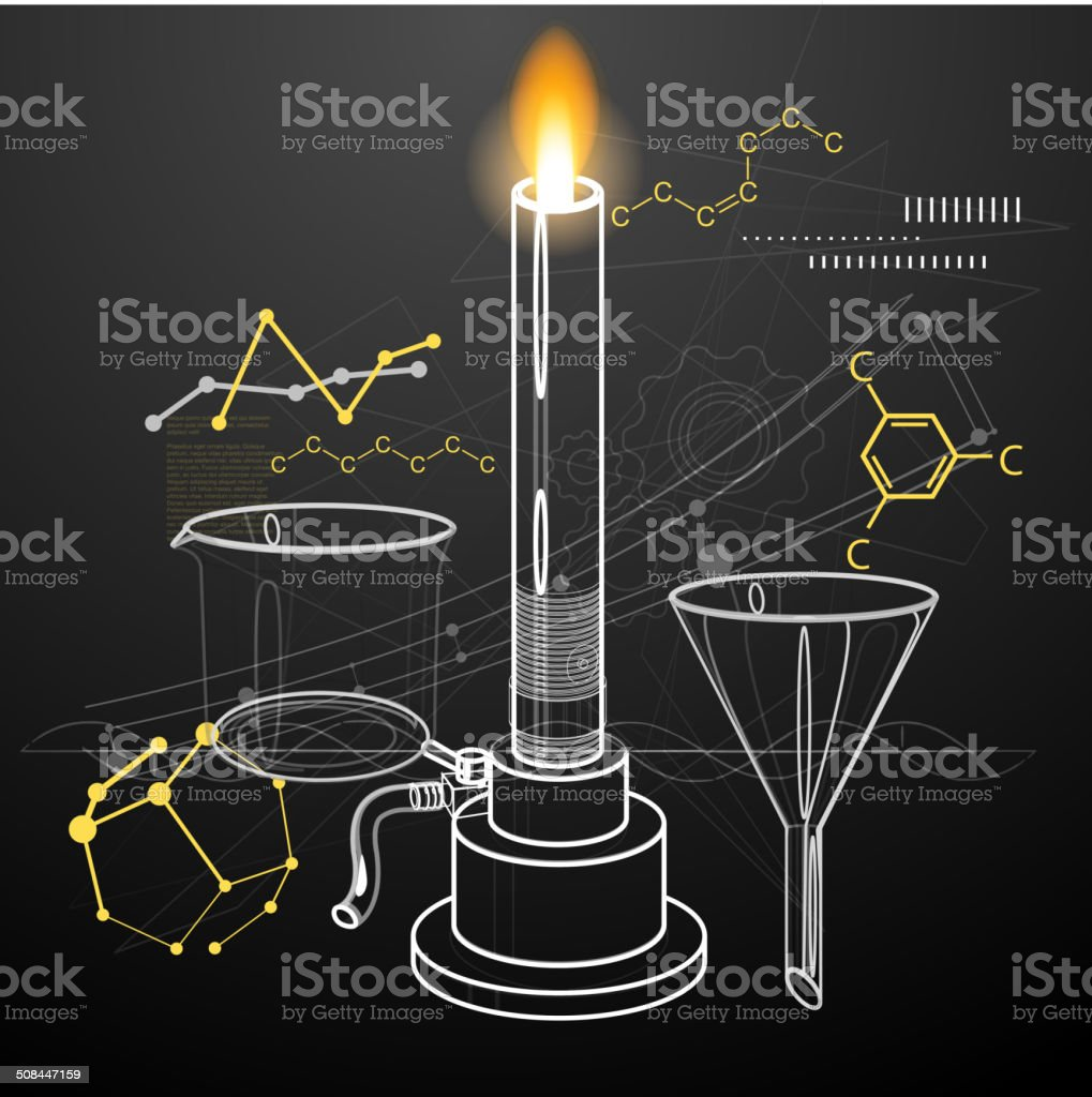 Chemistry Experiments Abstract vector art illustration