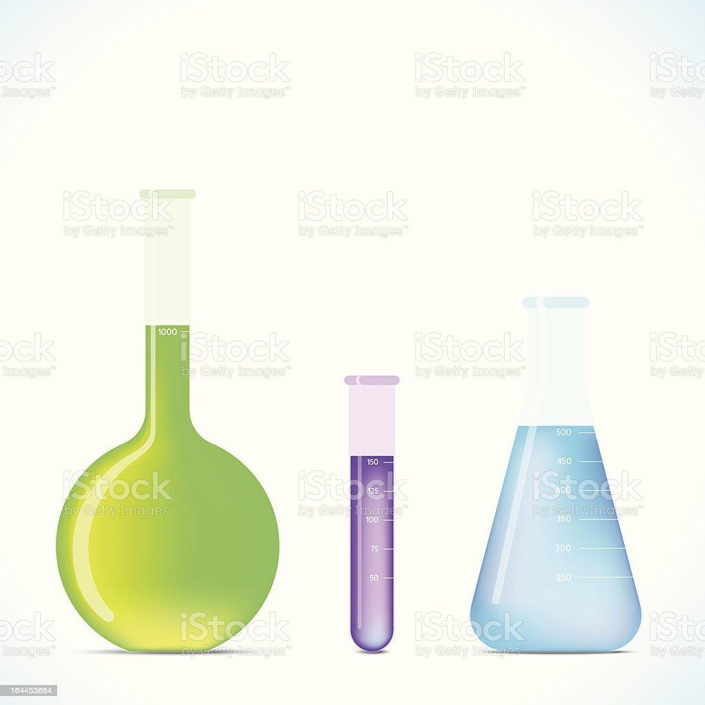 Chemistry Flasks royalty-free stock vector art