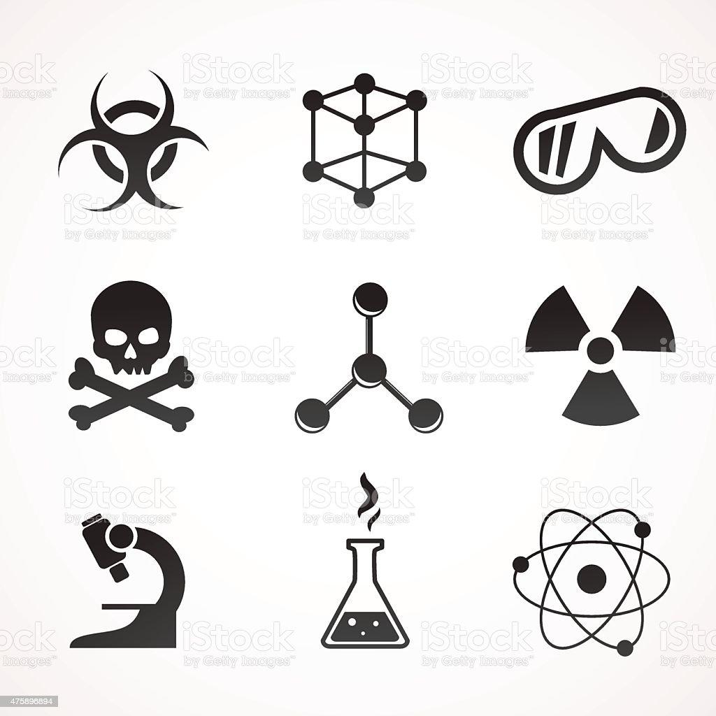 Chemistry icon set. vector art illustration