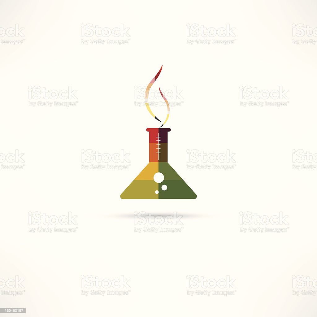 chemistry icon royalty-free stock vector art