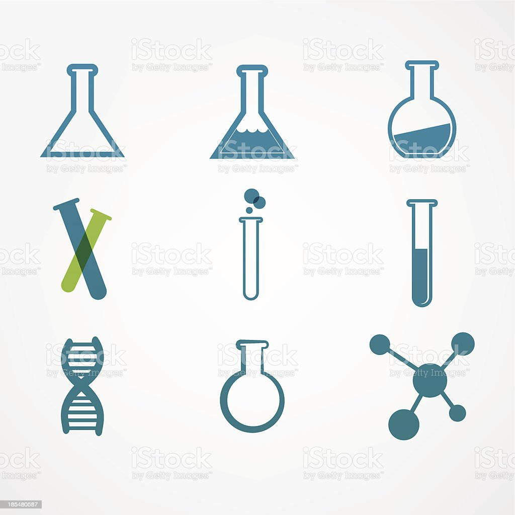 chemistry icon royalty-free stock vector art