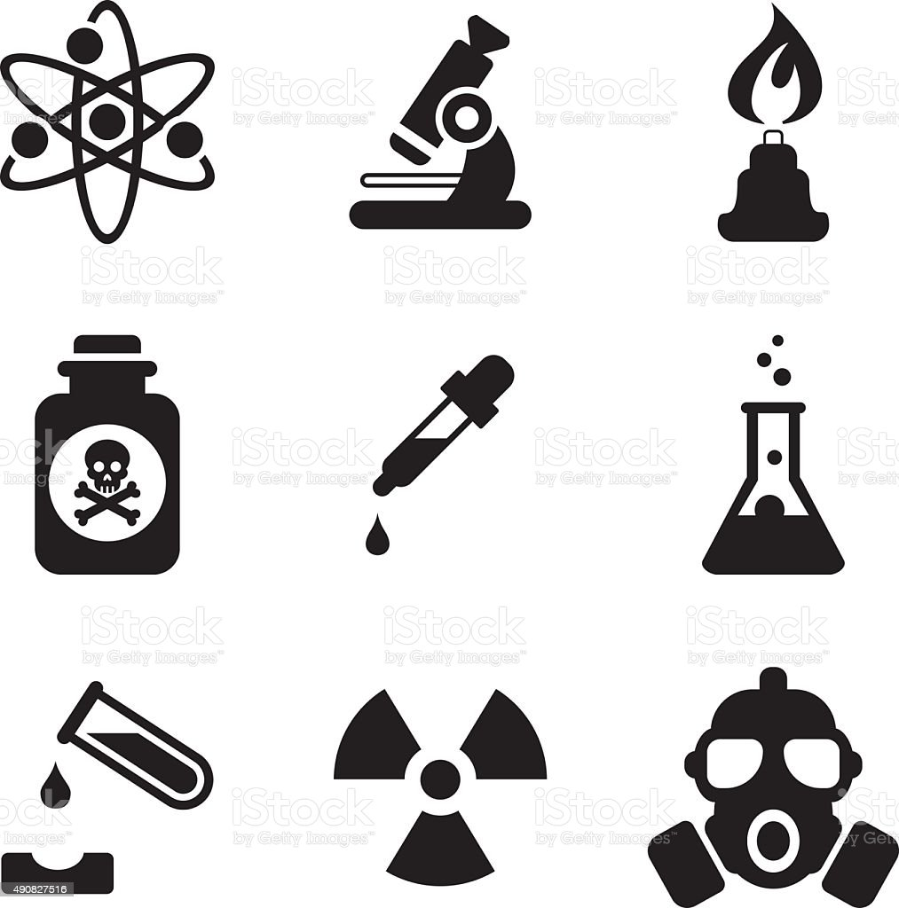 Chemistry Icons vector art illustration