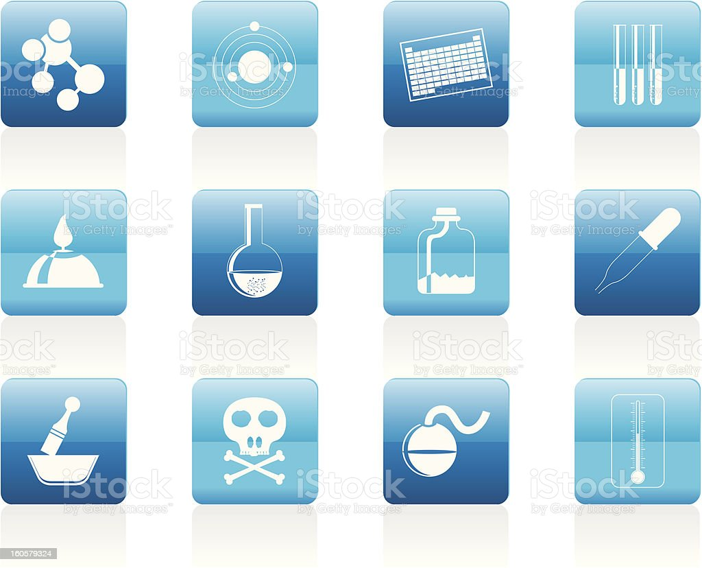 Chemistry industry icons royalty-free stock photo