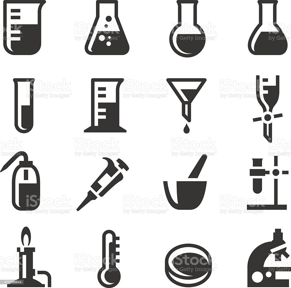 Chemistry Lab Icons Set 2 vector art illustration