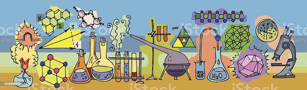 Chemistry Lab royalty-free stock vector art