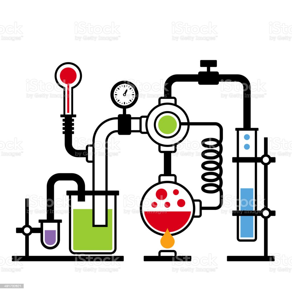 Chemistry Laboratory Infographic Set 2 royalty-free stock vector art