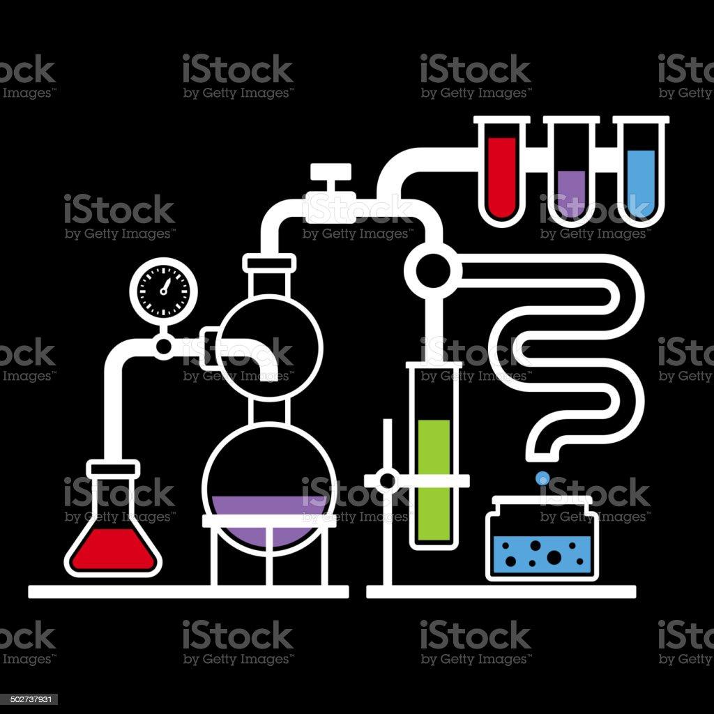 Chemistry Laboratory Infographic Set 3 royalty-free stock vector art