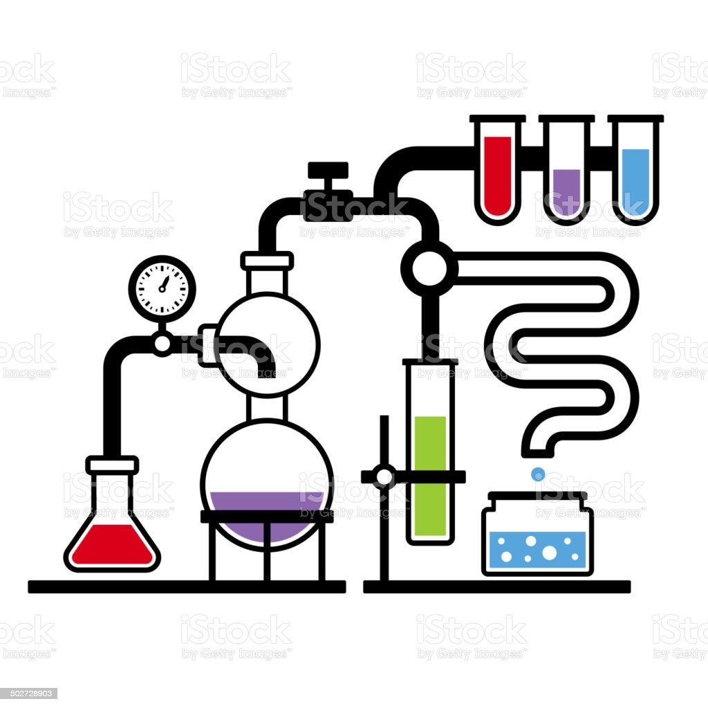 Chemistry Laboratory Infographic Set royalty-free stock vector art