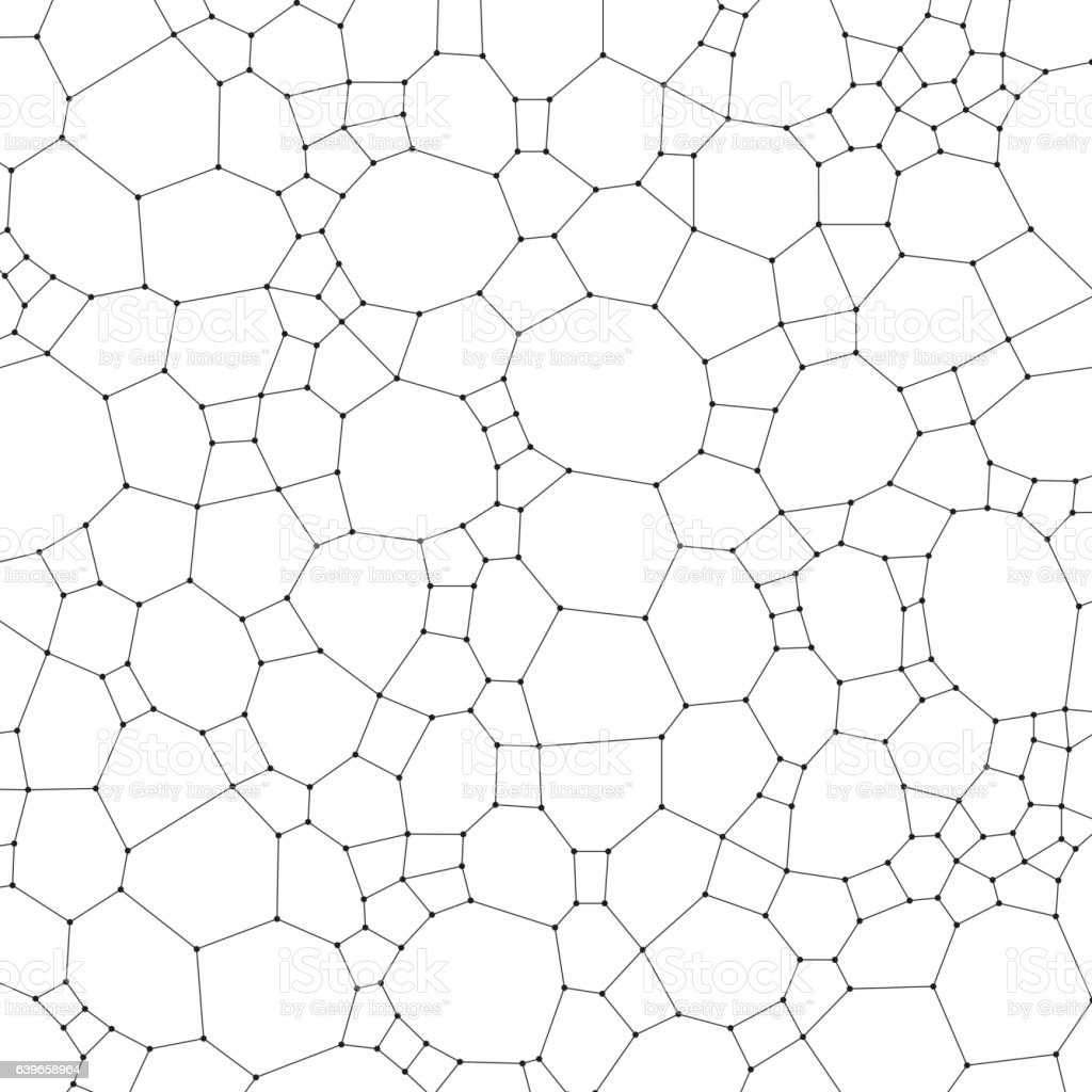 Chemistry pattern, molecular texture, polygonal molecule structure on white background vector art illustration