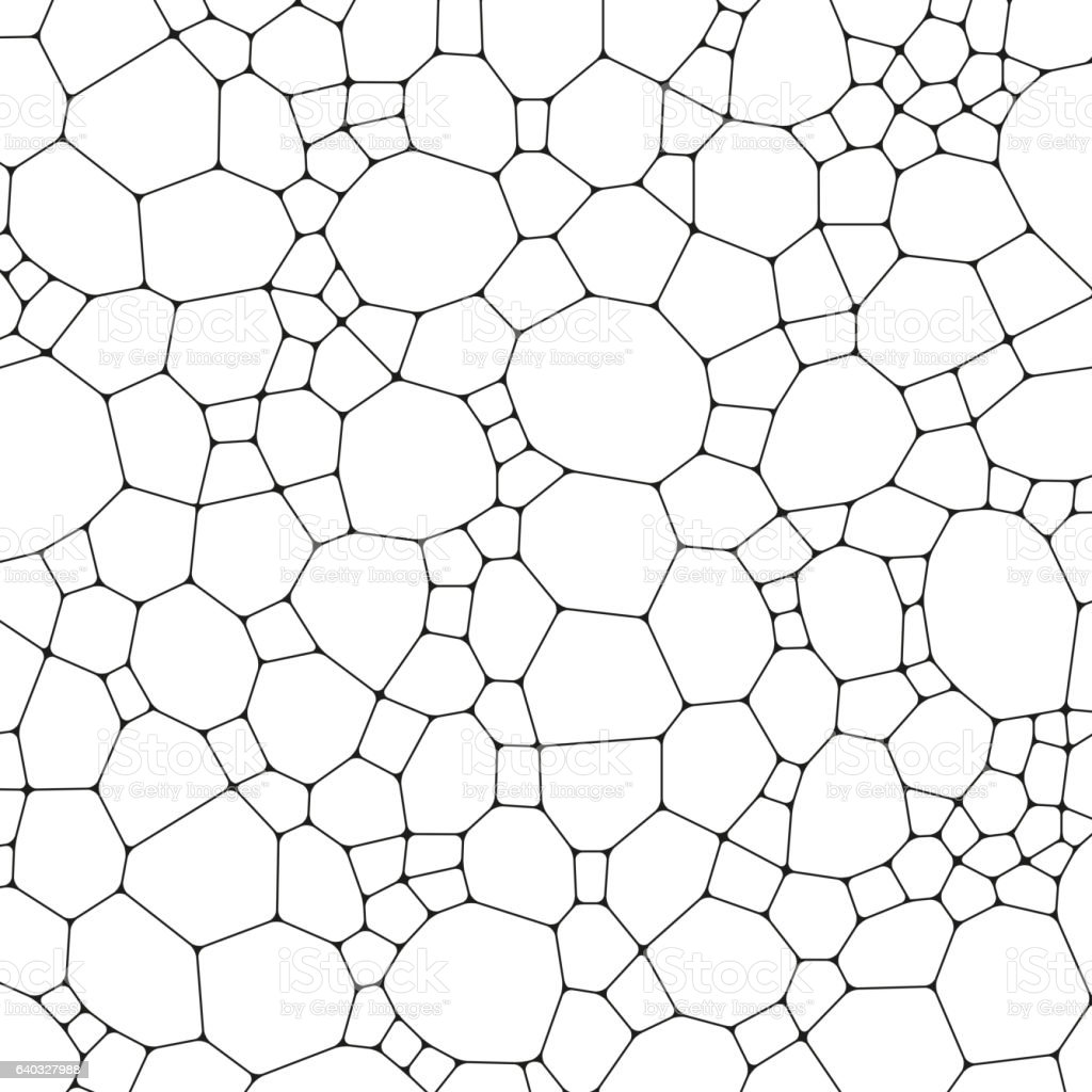 Chemistry pattern, polygonal molecule structure on white background. Medicine, science vector art illustration