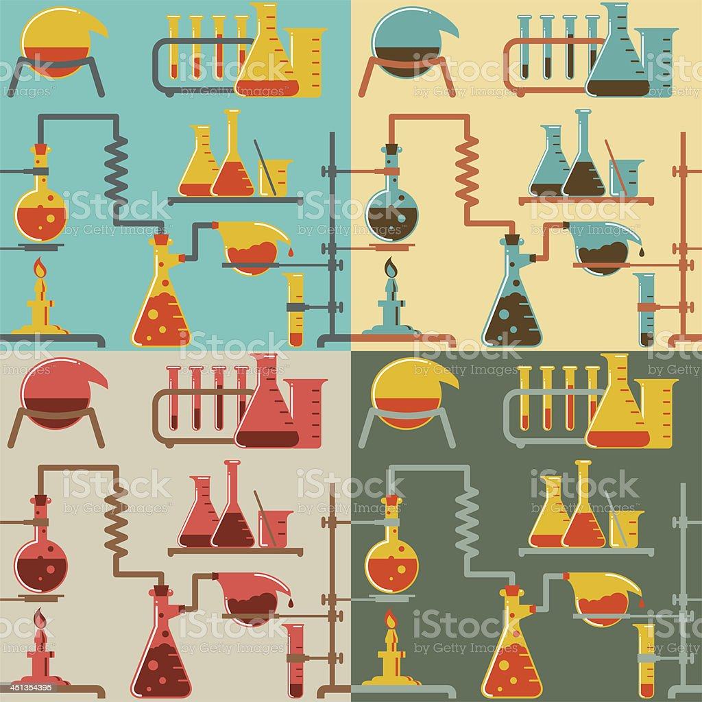 Chemistry pattern vector art illustration