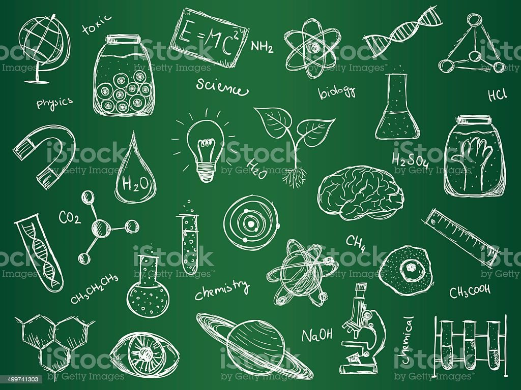 Chemistry Science Background vector art illustration