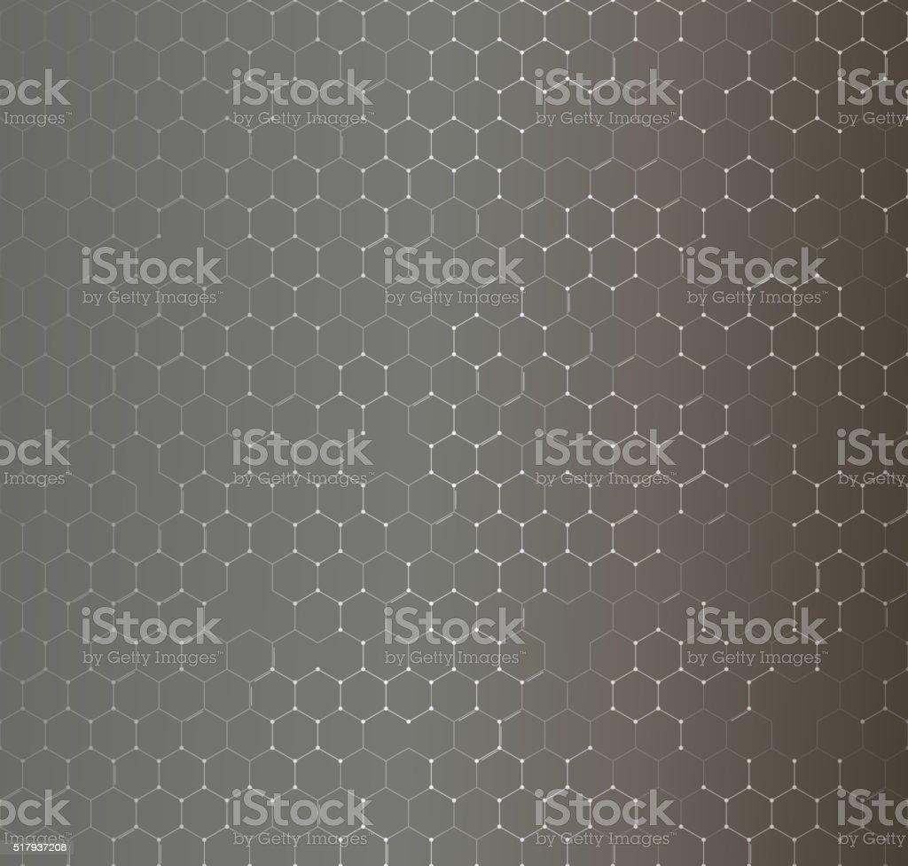 Chemistry seamless pattern, hexagonal design vector illustration vector art illustration