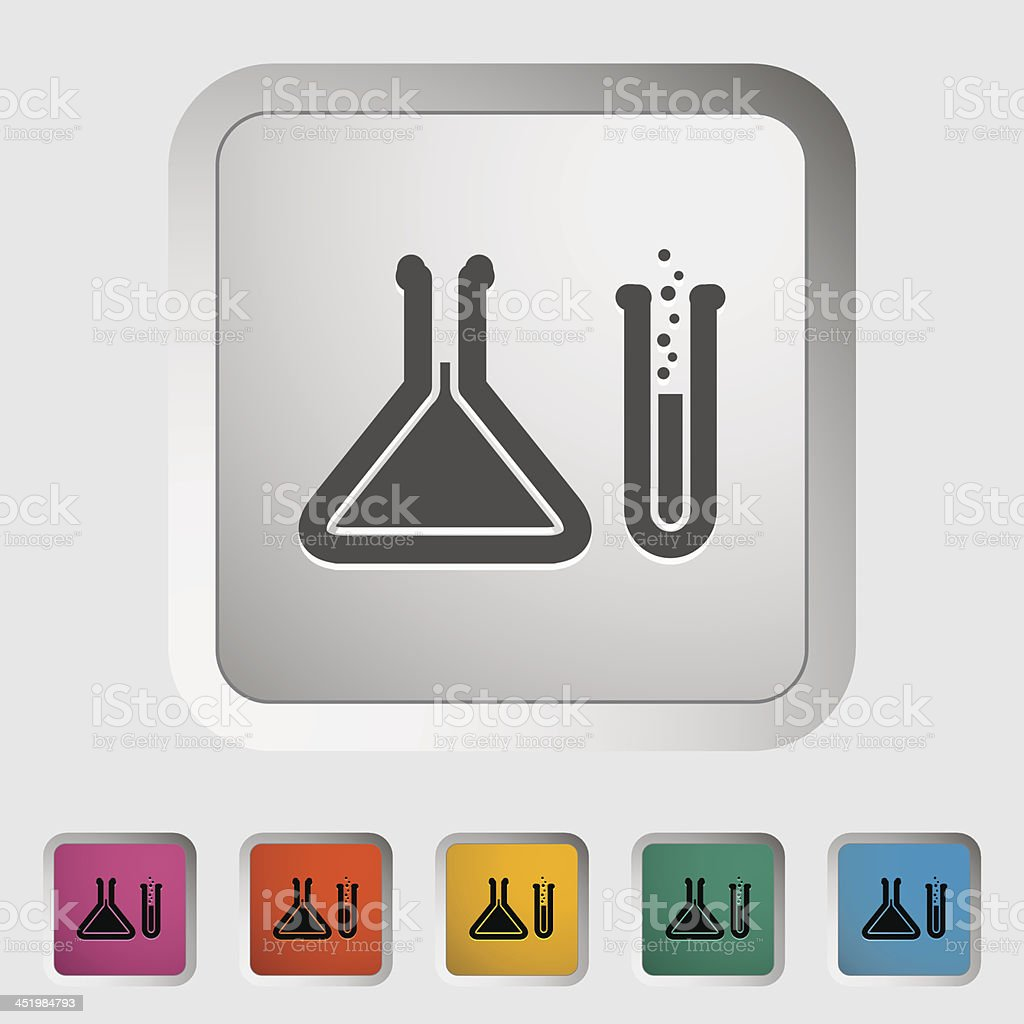 Chemisty icon royalty-free stock vector art