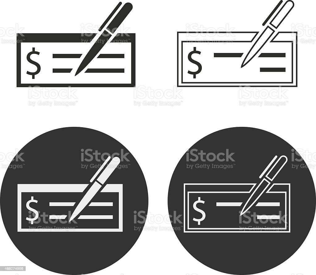 Cheque vector art illustration