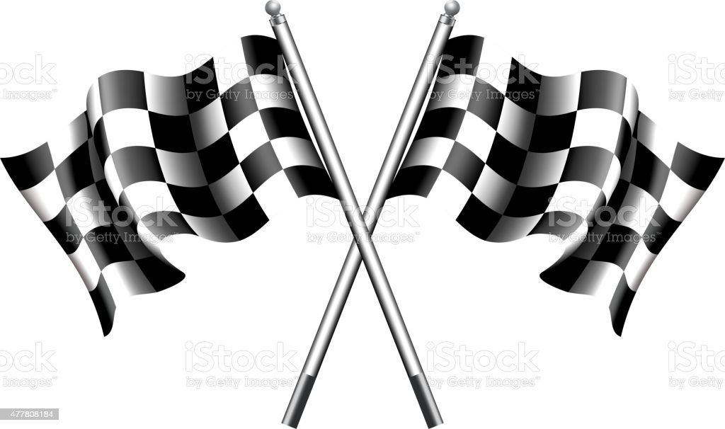 Chequered, Checkered Flags Motor Racing vector art illustration