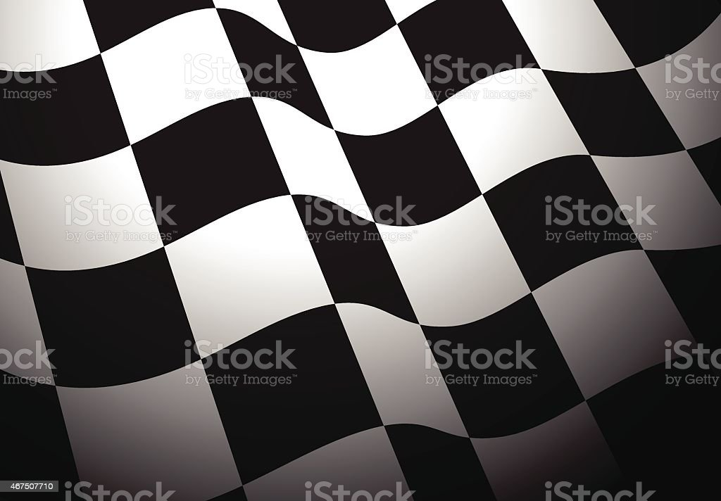 Chequered flag vector art illustration
