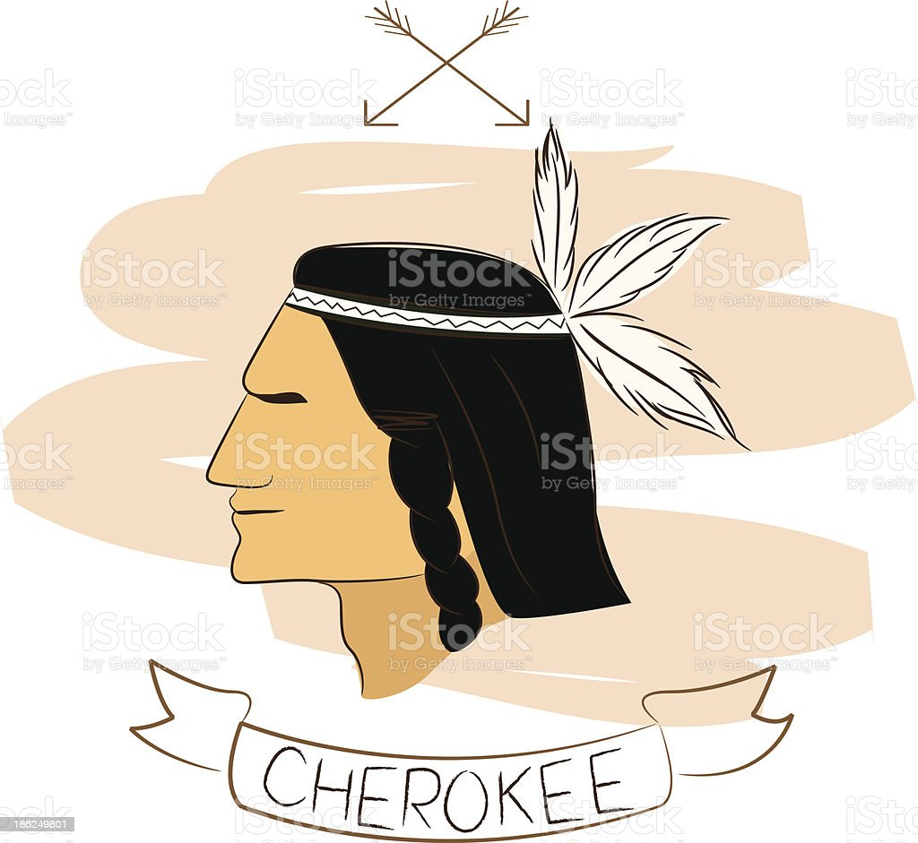 cherokee royalty-free stock vector art