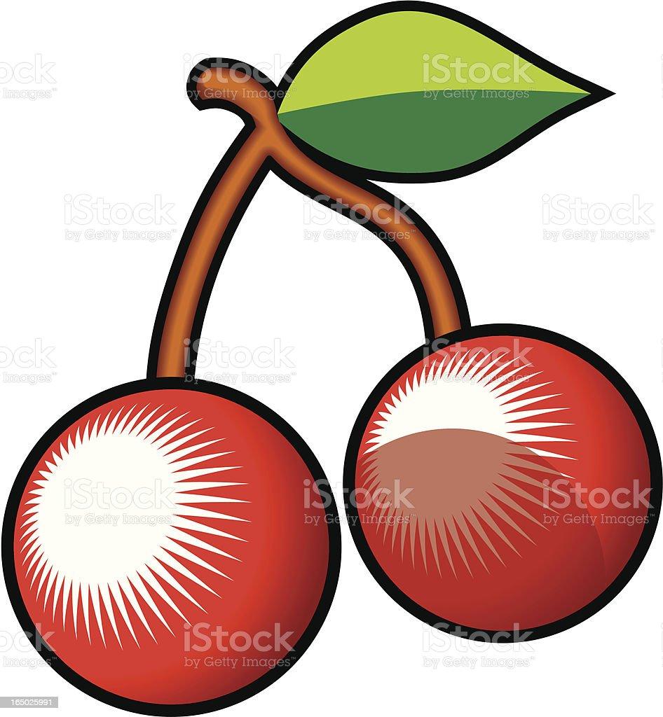 Cherries (vector) royalty-free stock vector art