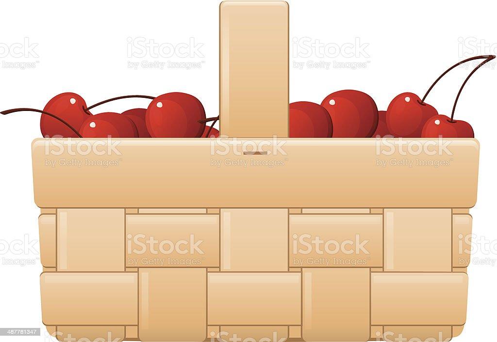 Cherry Basket royalty-free stock vector art