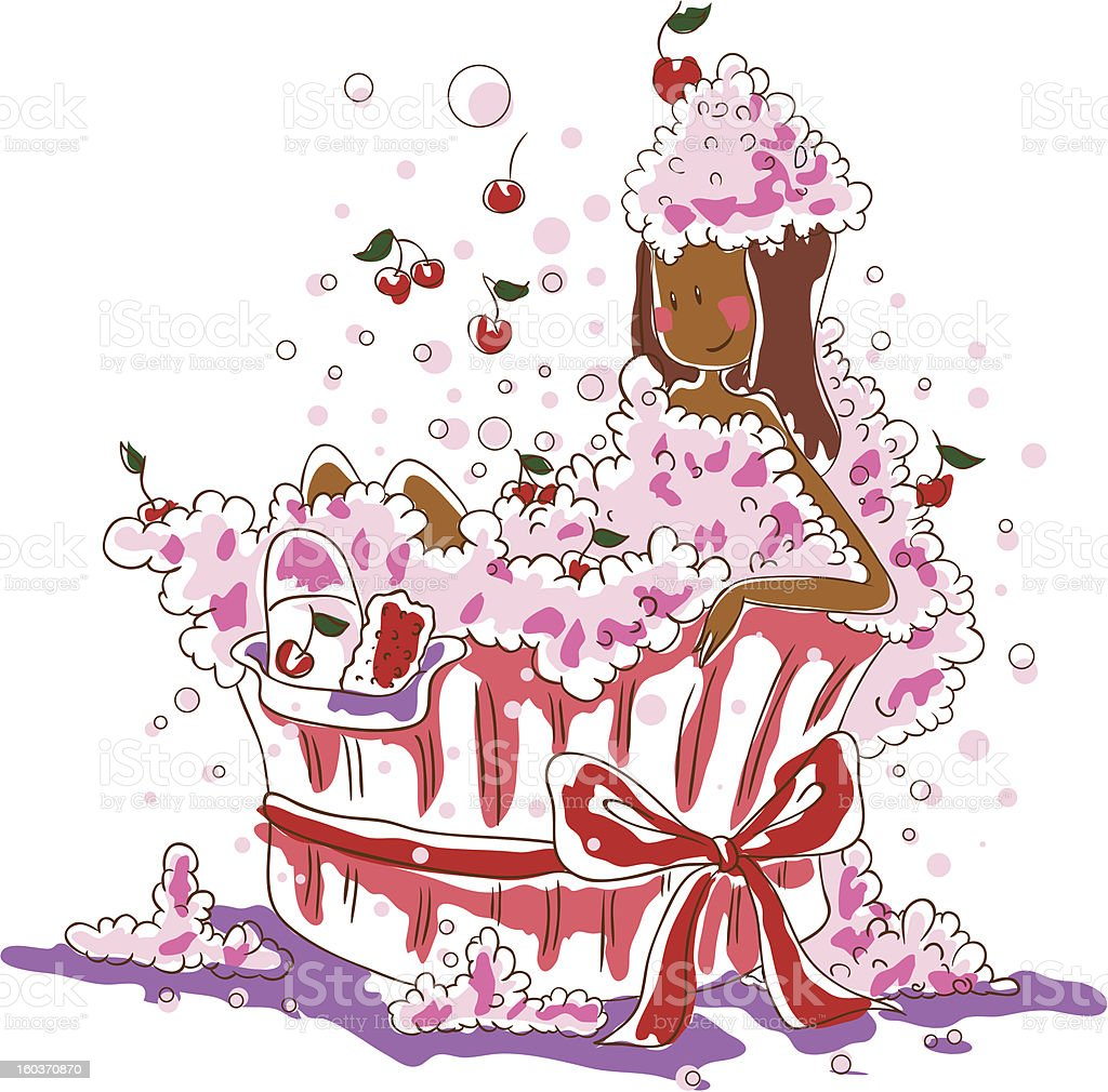 Cherry bath royalty-free stock vector art