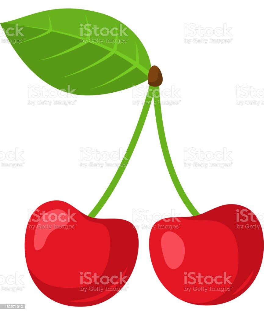 Cherry berries. vector art illustration
