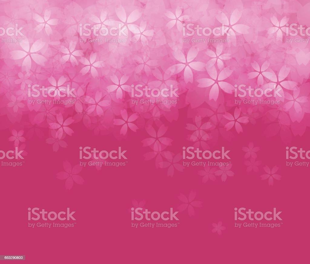 Cherry blossom background image vector art illustration