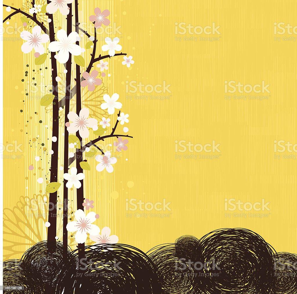 Cherry Blossom background royalty-free stock vector art
