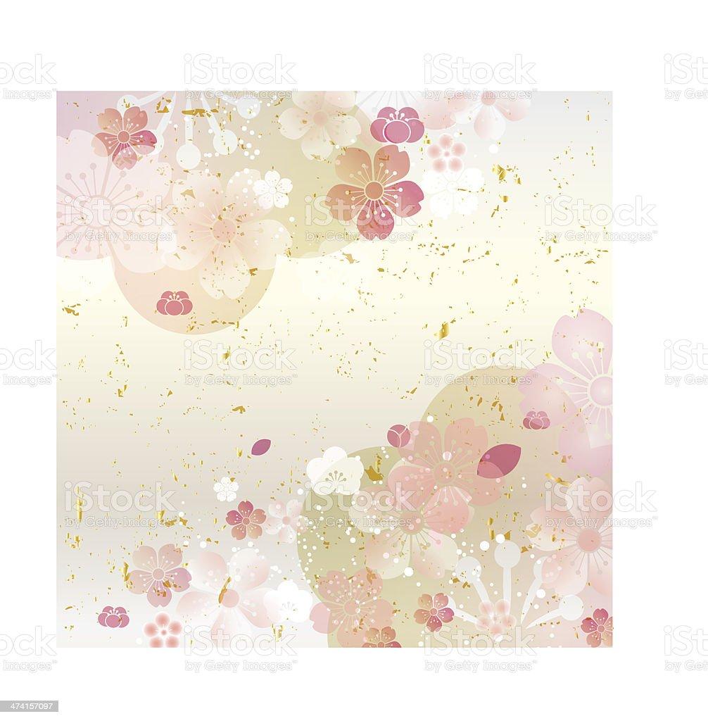 Cherry Blossom background vector art illustration