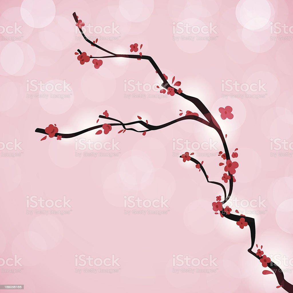 Cherry Blossom Branch royalty-free stock vector art
