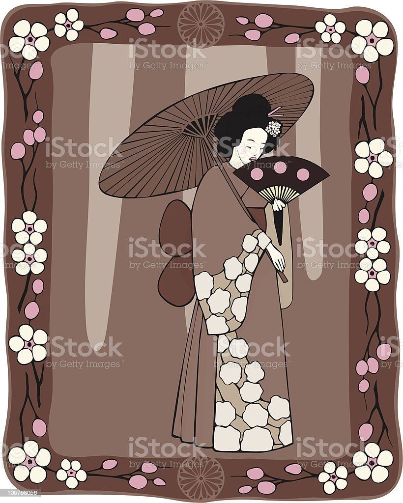 Cherry blossom festival royalty-free stock vector art