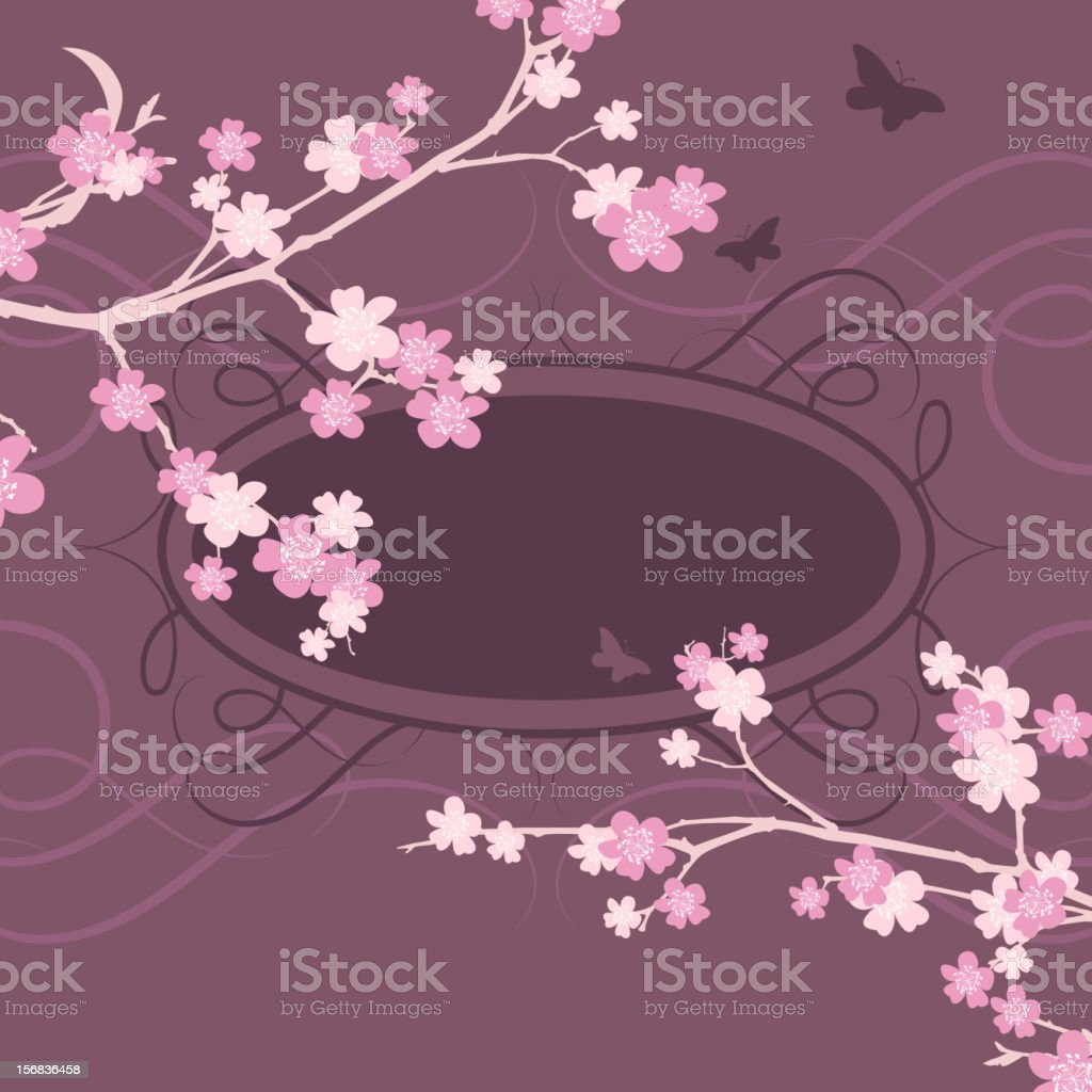 Cherry Blossom Frame royalty-free stock vector art