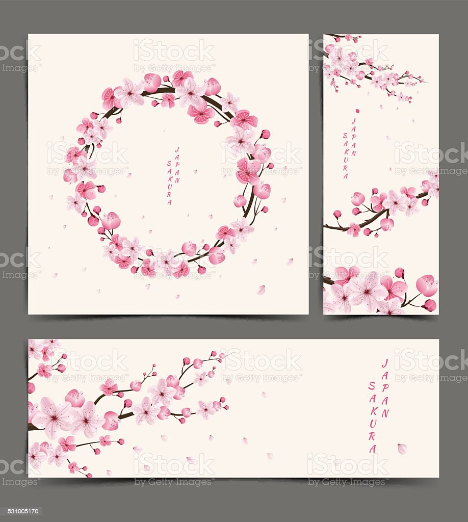 cherry blossom realistic vector vector art illustration