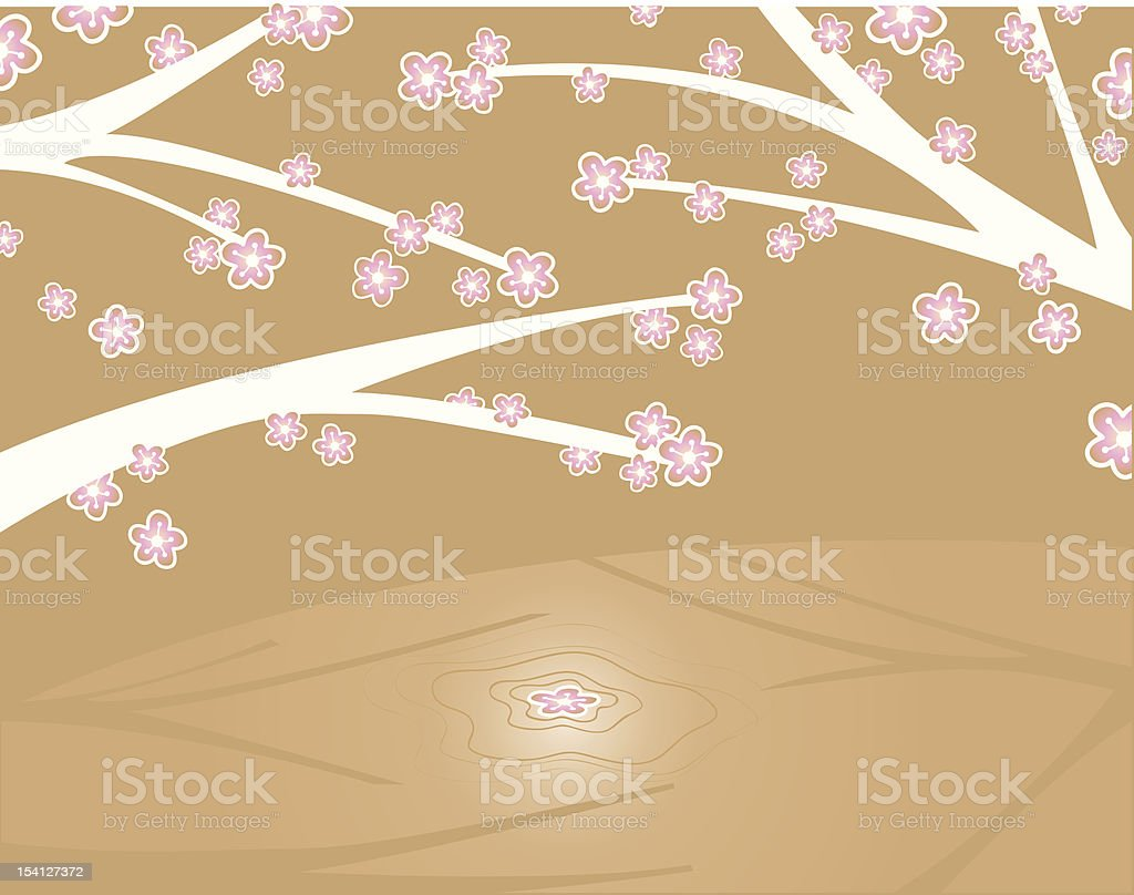 Cherry blossom reflection royalty-free stock vector art