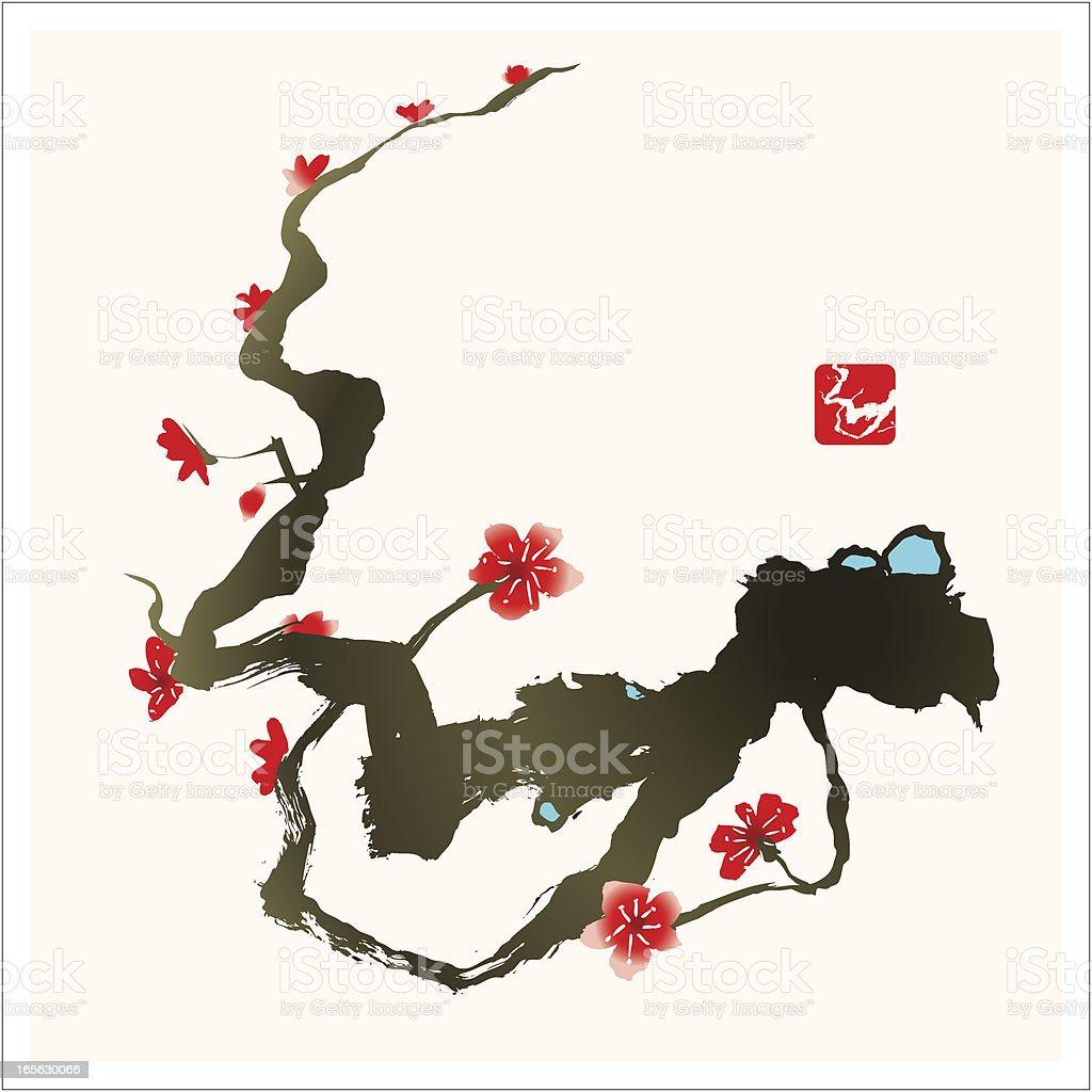 Cherry Blossom Tree royalty-free stock vector art
