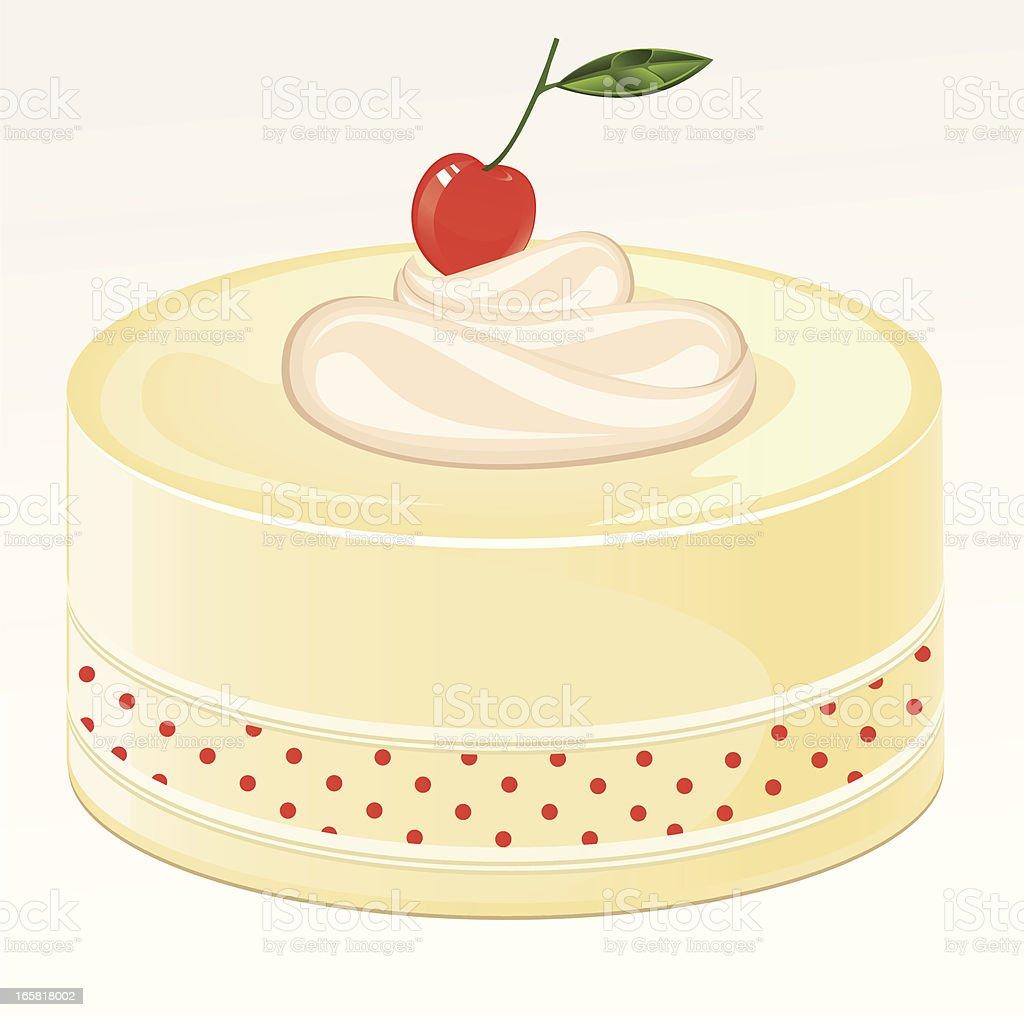 Cherry Cake vector art illustration