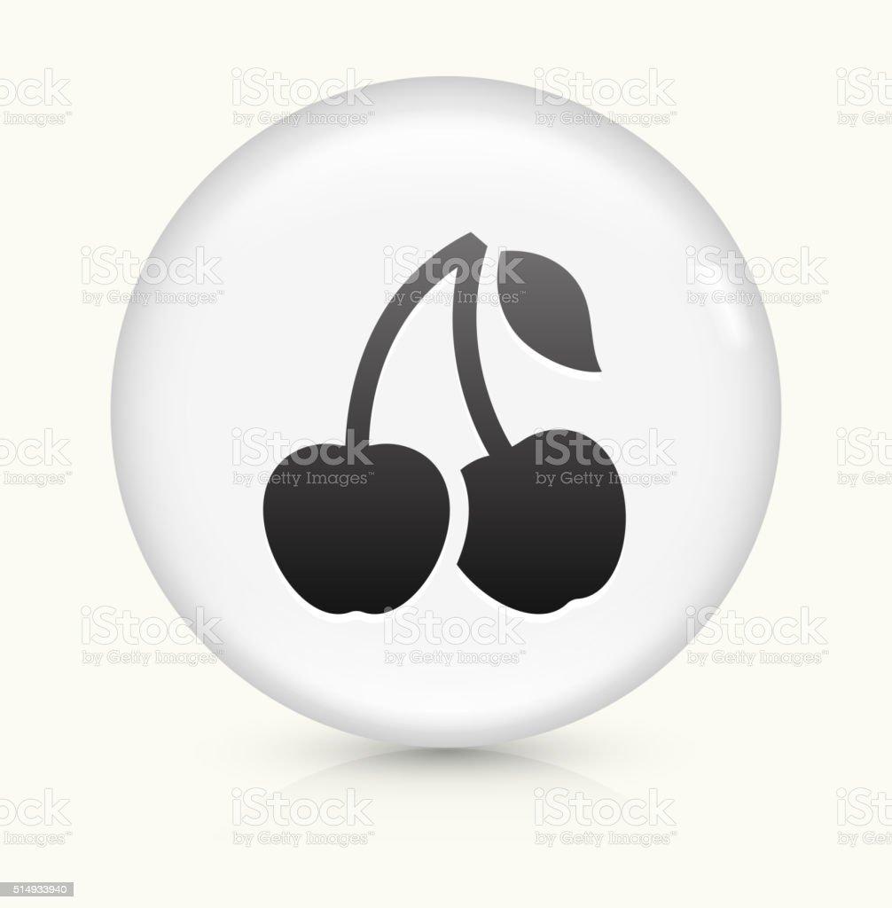 Cherry icon on white round vector button vector art illustration