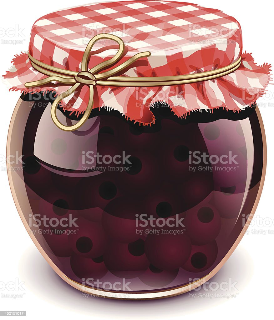cherry jam royalty-free stock vector art