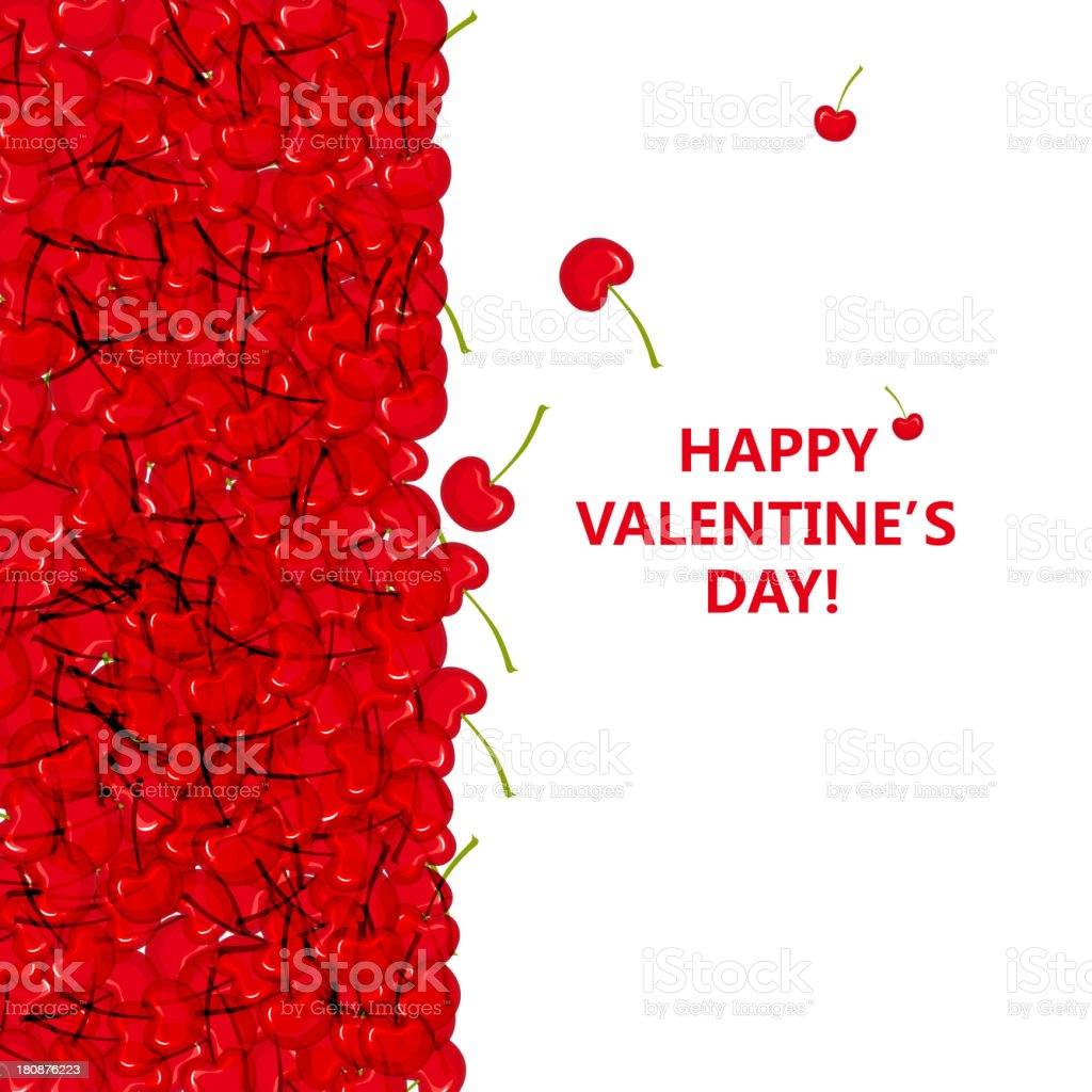 cherry pattern background for Valentine's day royalty-free stock vector art
