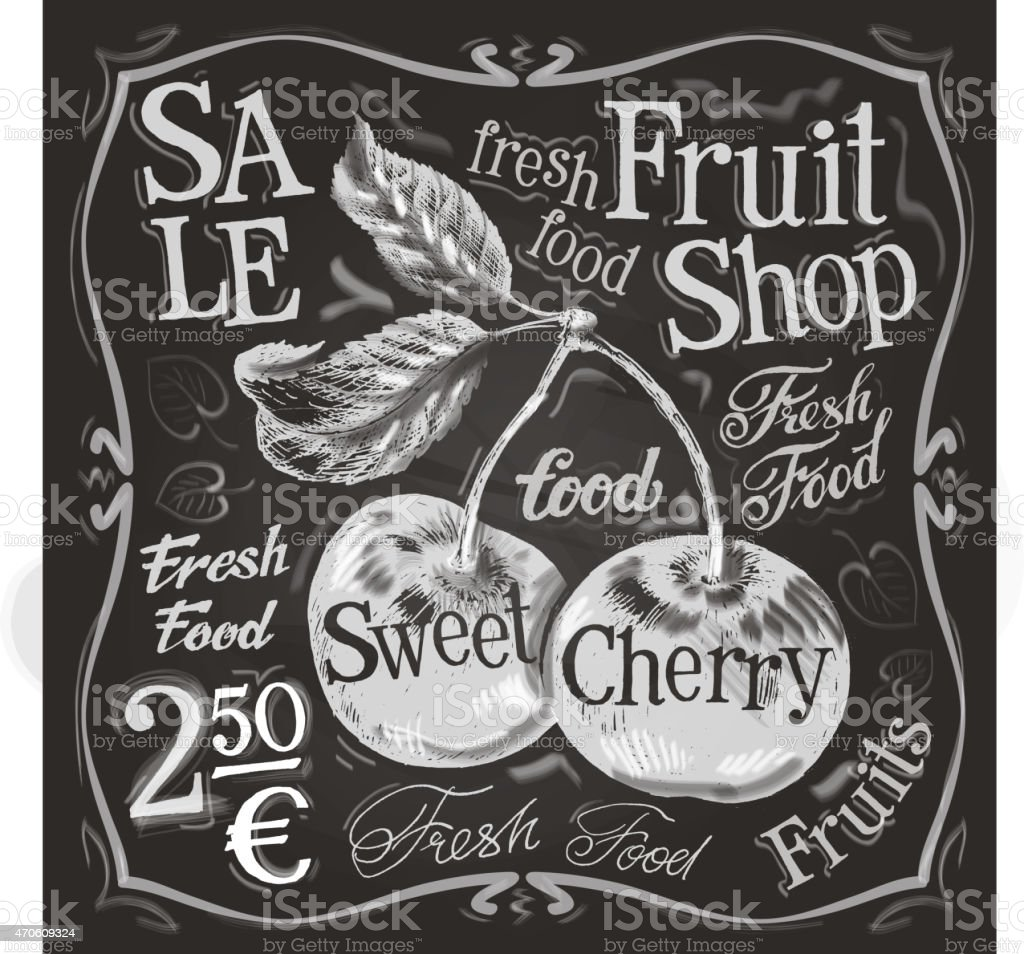 cherry ripe vector logo design template. fresh fruit, food or vector art illustration